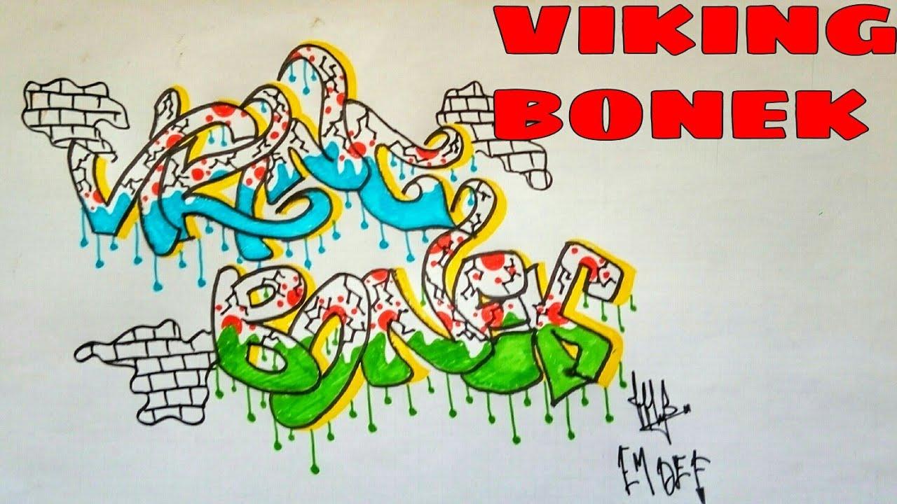 Cara Gambar Grafiti Viking Bonek Grafiti Di Kertas Grafiti Indonesia Youtube
