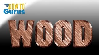 Photoshop Carved Wood Text Effect, How To Cut Out Wood Text Look, Photoshop Cs5 Cs6 Cc Tutorial