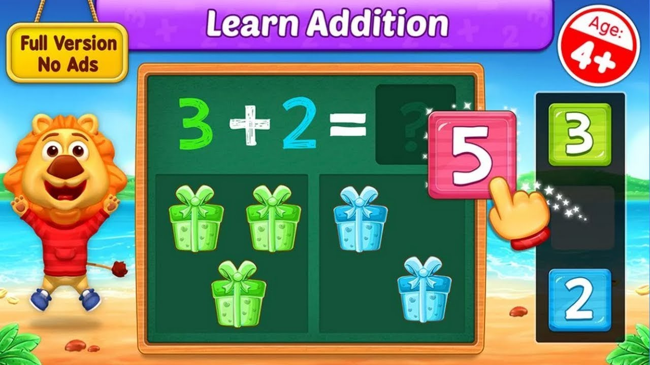 Math Kids Add Subtract Count And Learn Adding Fun Learn Addition Math For Kids Educational Games For Kids Learning Apps Addition to games online