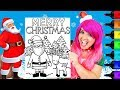 Coloring Santa & Rudolph Christmas Coloring Page Prismacolor Markers | KiMMi THE CLOWN