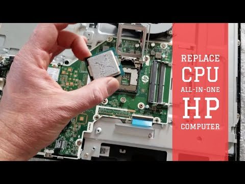 Upgrading Removing CPU Processor for All In One HP Desktop Computer