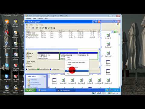 How To Create A Partition In Windows Xp And Windows 7 Using DiskMgmt