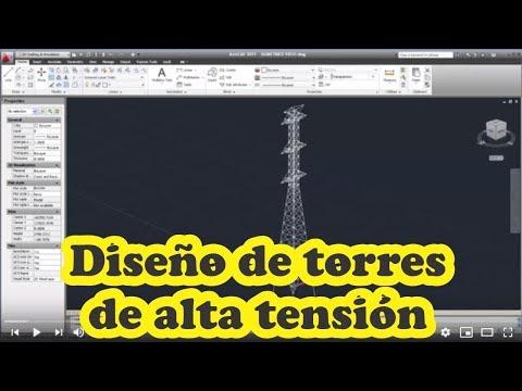 Diseño De Torres De Alta Tensión Eléctrica Para Líneas De Transmisión Con Autocad Y SAP2000