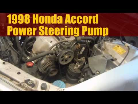 1998 Honda Accord How to Replace the Power Steering Pump