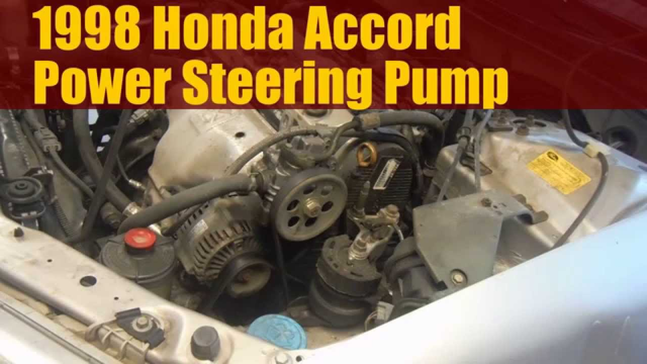 1998 Honda Accord How to Replace the Power Steering Pump - YouTube