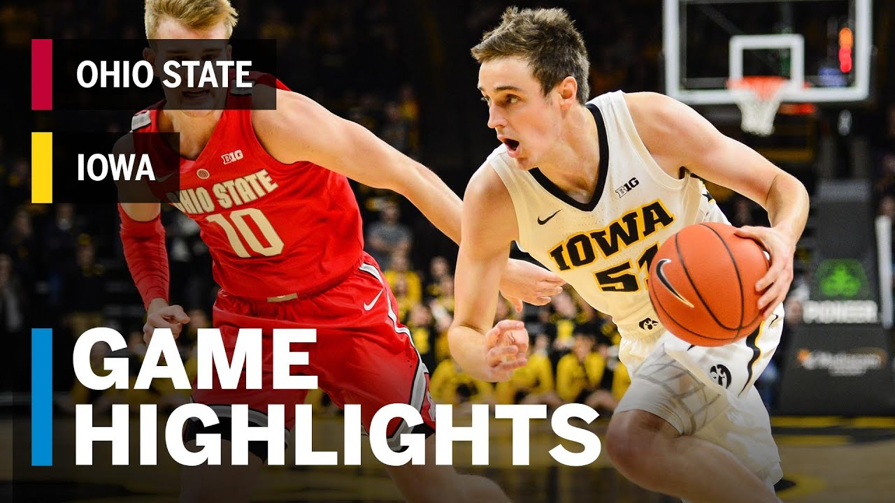 Iowa Men S Basketball Vs Ohio State Final Score Stats