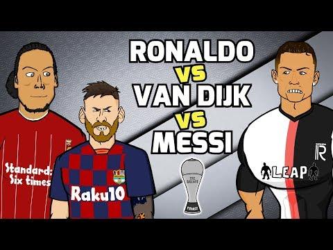 MESSI vs RONALDO vs VAN DIJK! The Best Awards: Football Challenges