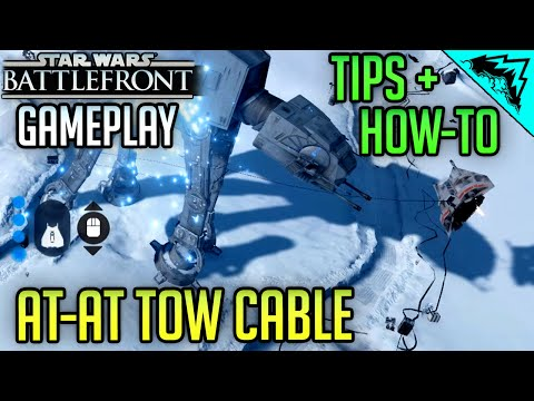 Star Wars Battlefront Gameplay - Tow Cable AT-AT (How to & Tips) Beta Gameplay