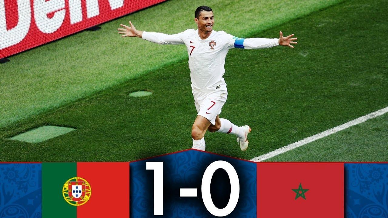 resume match maroc portugal