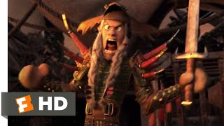 How to Train Your Dragon 3 (2019) - Battle on Grimmel's Boat Scene (7/10) | Movieclips