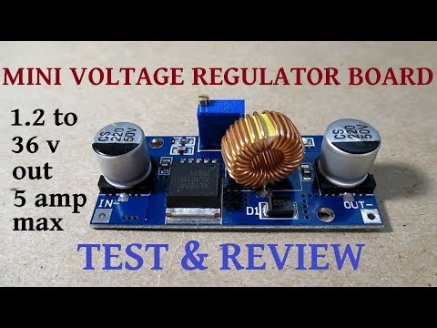 5 amp PWM voltage regulator board test & review