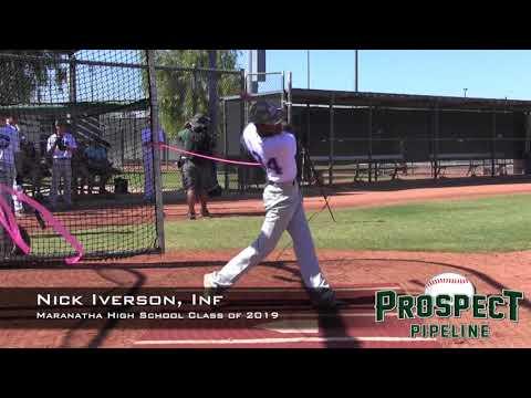 Nick Iverson Prospect Video, Inf, Maranatha High School Class of 2019