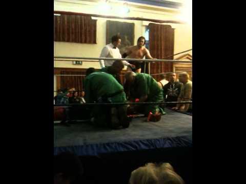 Lembit Opik is hospitalised by Kade Callous 2nd June 2012 Welsh Wrestling