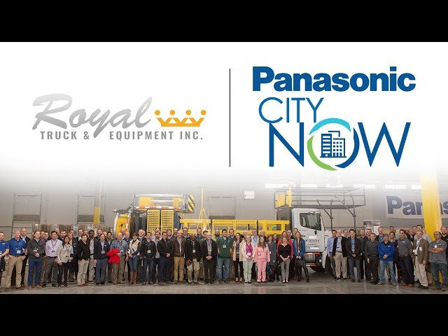 Royal Truck & Equipment's Autonomous TMA Truck Displayed at Panasonic CityNow