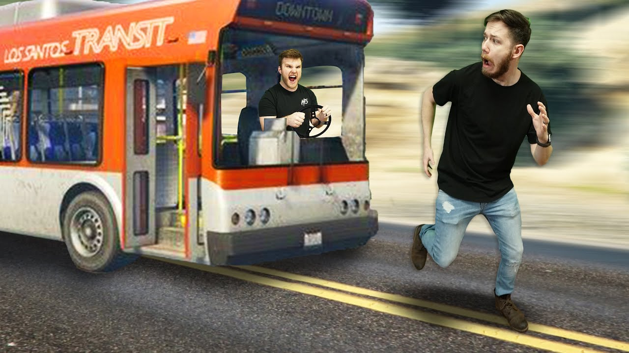 Runner Vs. Deadly Bus!   GTA5