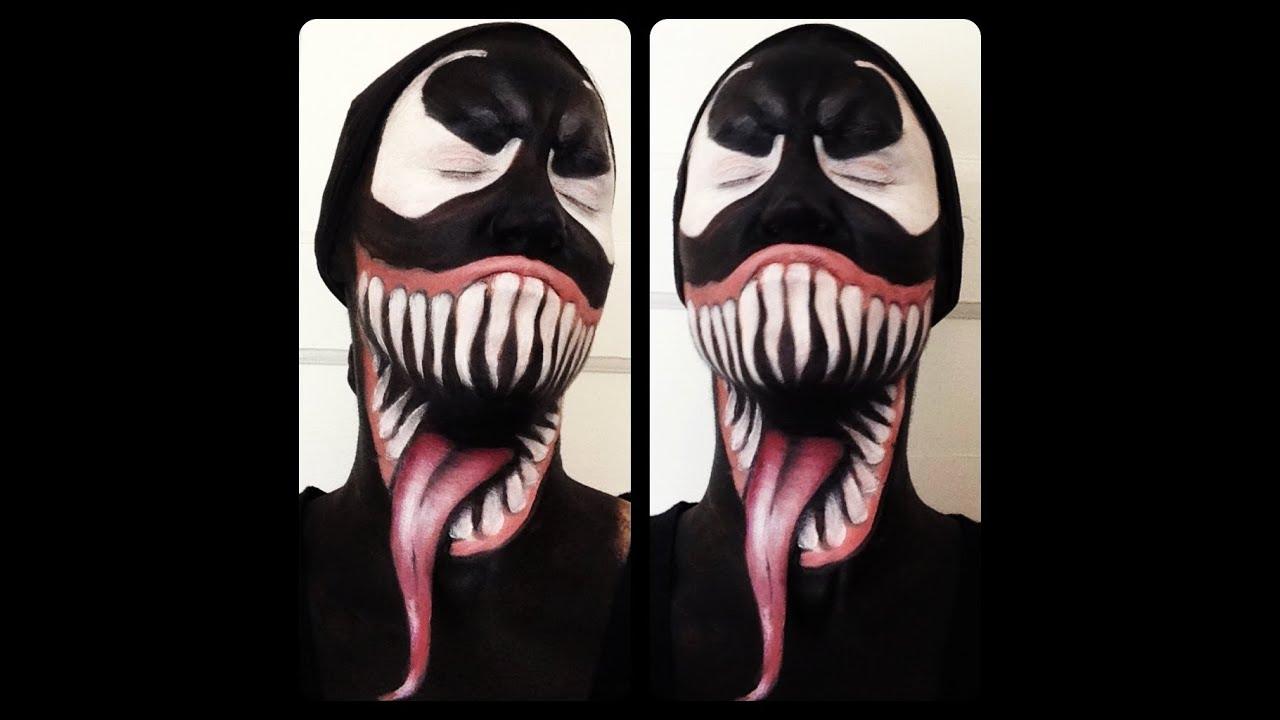 Spiderman Venom Makeup Tutorial - YouTube