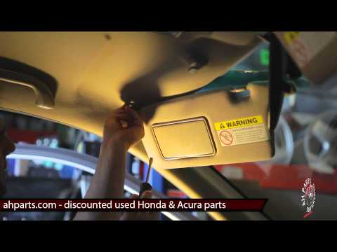 SUN VISORS Replacement How to replace install change tutorial video installation Honda Civic