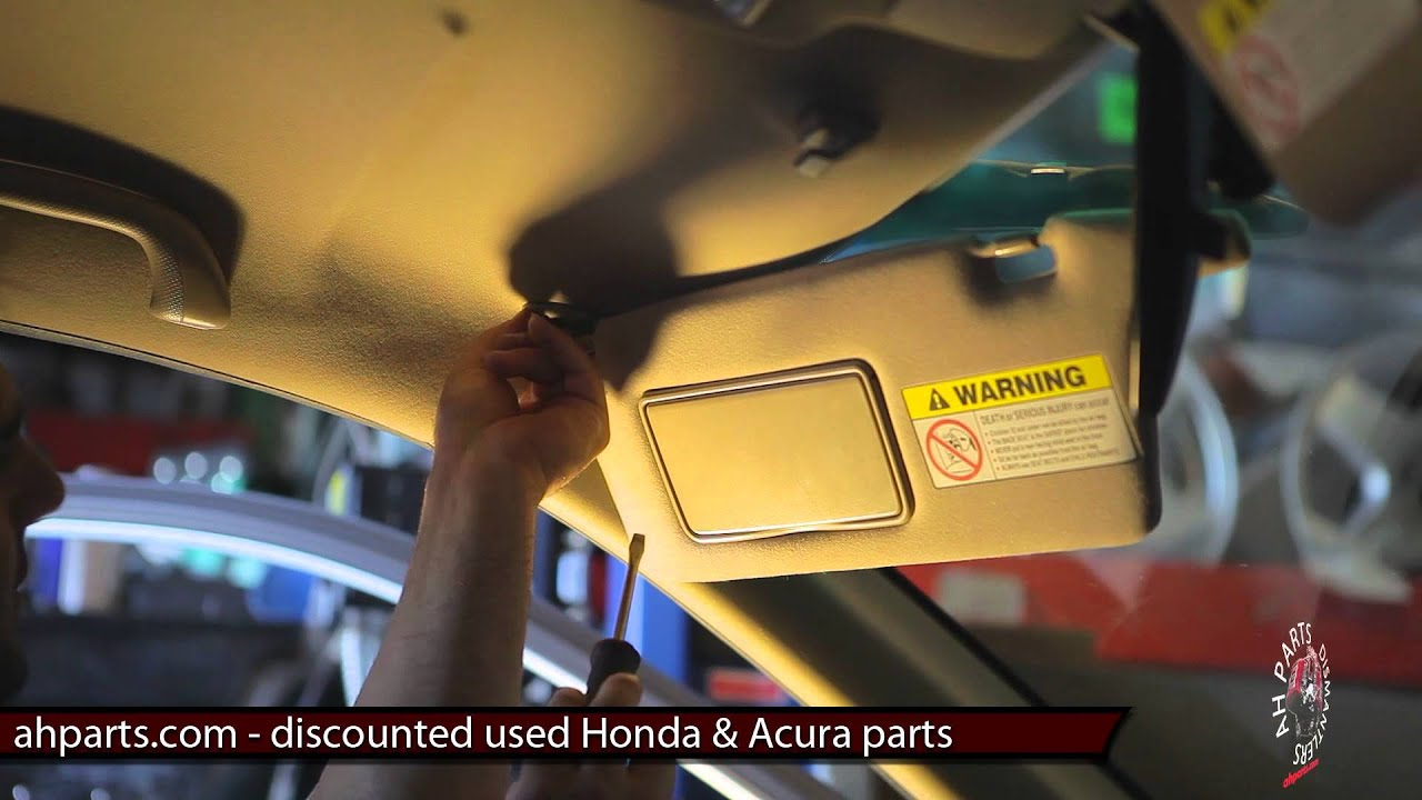 sun visors replacement how to replace install change tutorial video installation honda civic [ 1280 x 720 Pixel ]