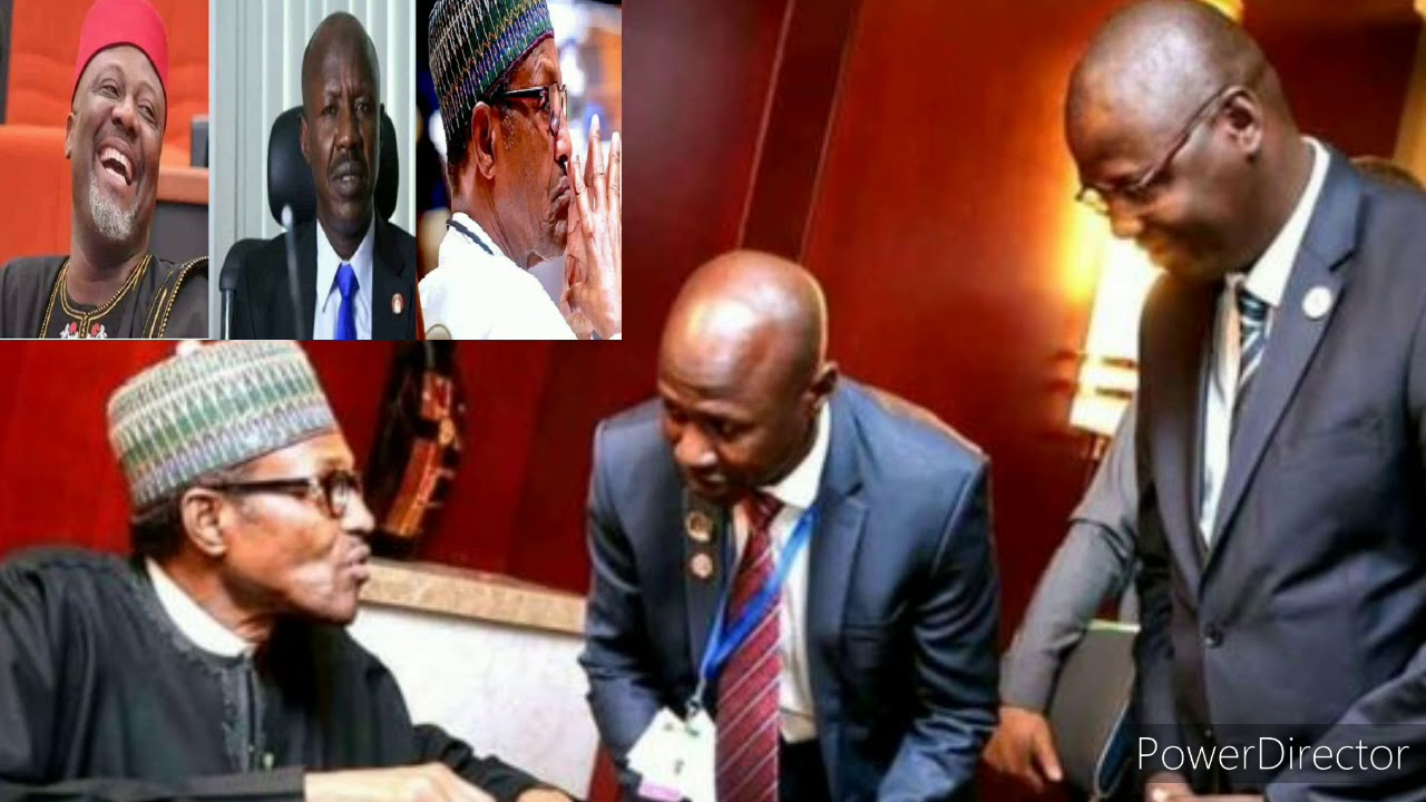 EMBATTLED EFCC BOSS ON A FLIGHT RISK BUHARI FINALLY SUCCUMBED  TO PRESURE  AS HE KICKED HIM OUT
