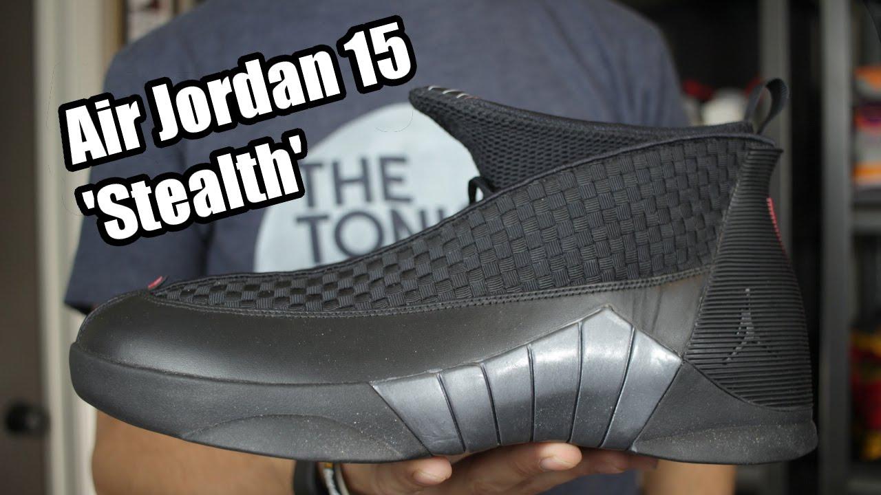 sports shoes 5225f 28745 Air Jordan XV (15)  Stealth  W  On Foot