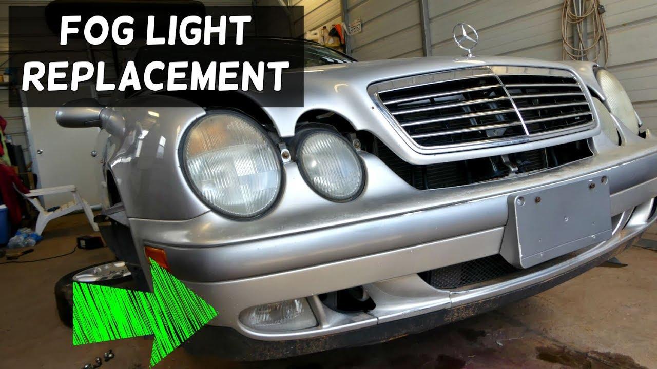 Mercedes clk w208 w210 fog light bulb replacement removal for Mercedes benz light bulb replacement
