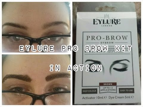 Eylure Brow Dye Kit || In Action - YouTube