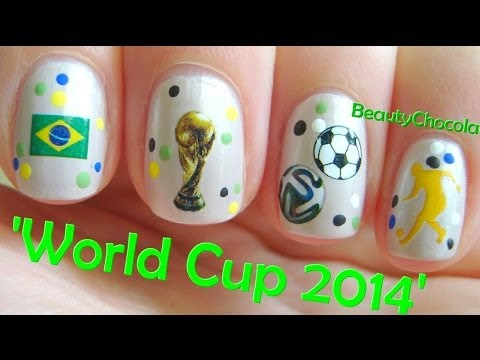Quick and Easy World Cup 2014 Nails ☆ Water Decals for Nail Art ☆ Review  Bornprettystore.com - Quick And Easy World Cup 2014 Nails ☆ Water Decals For Nail Art