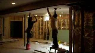 hanging drywall