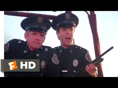 Police Academy 4 (1987) - Commandeering a Hot Air Balloon Scene (8/9) | Movieclips