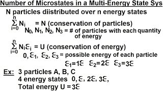 Physics 32.5 Statistical Thermodynamics (14 Of 39) Number Of Microstates In A Multi-Energy State Sys