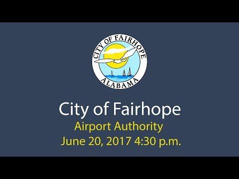 City of Fairhope Airport Authority June 20, 2017