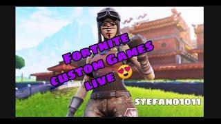 FORTNITE CUSTOM GAMES LIVE (JEDER KANN MITMACHEN) |Creatorcode Stefano10_11