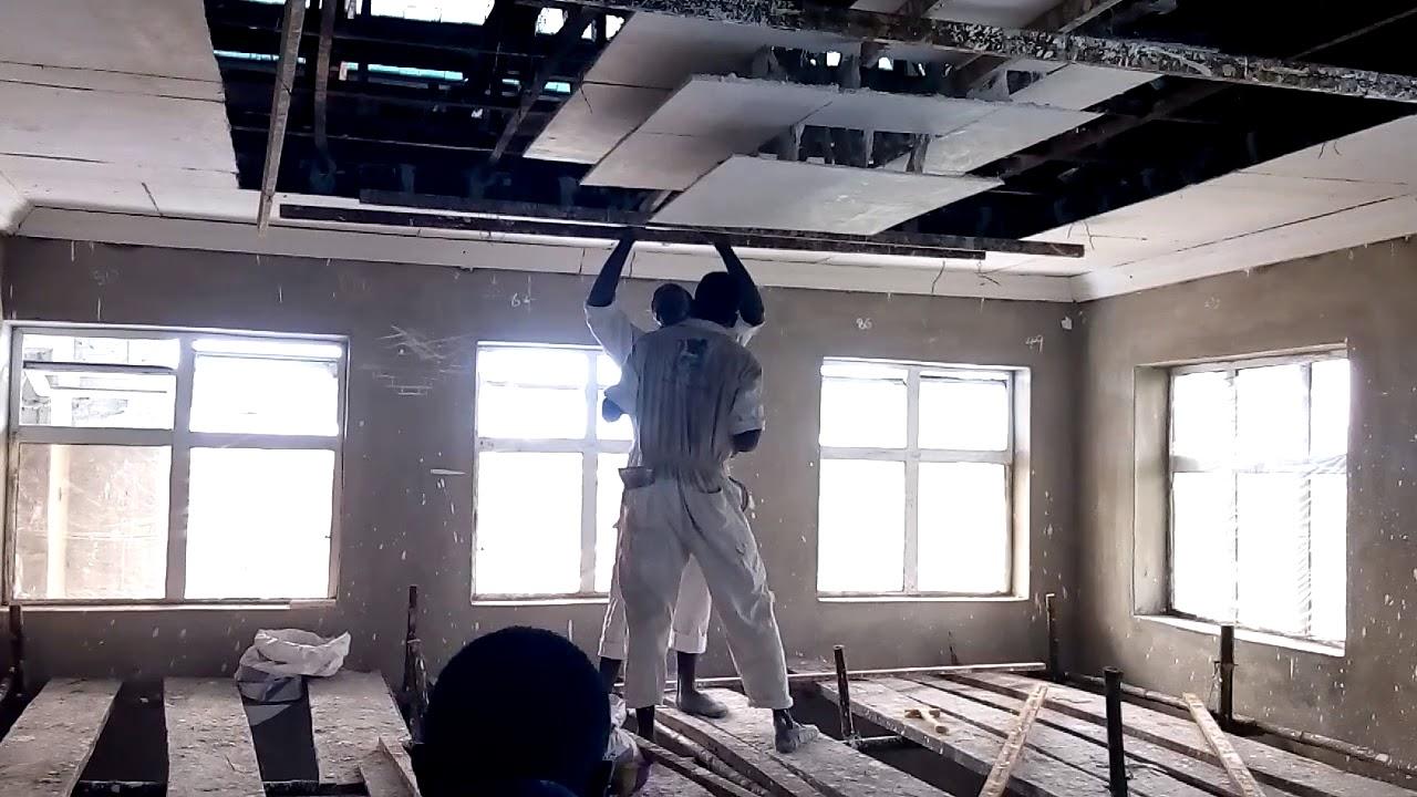 Pop Ceiling Design Installation Wall Screeding Youtube