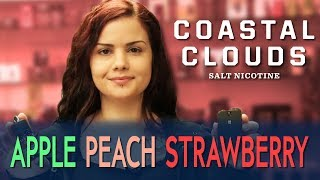 Vaping With Lisa - Coastal Clouds Salts Apple Peach Strawberry