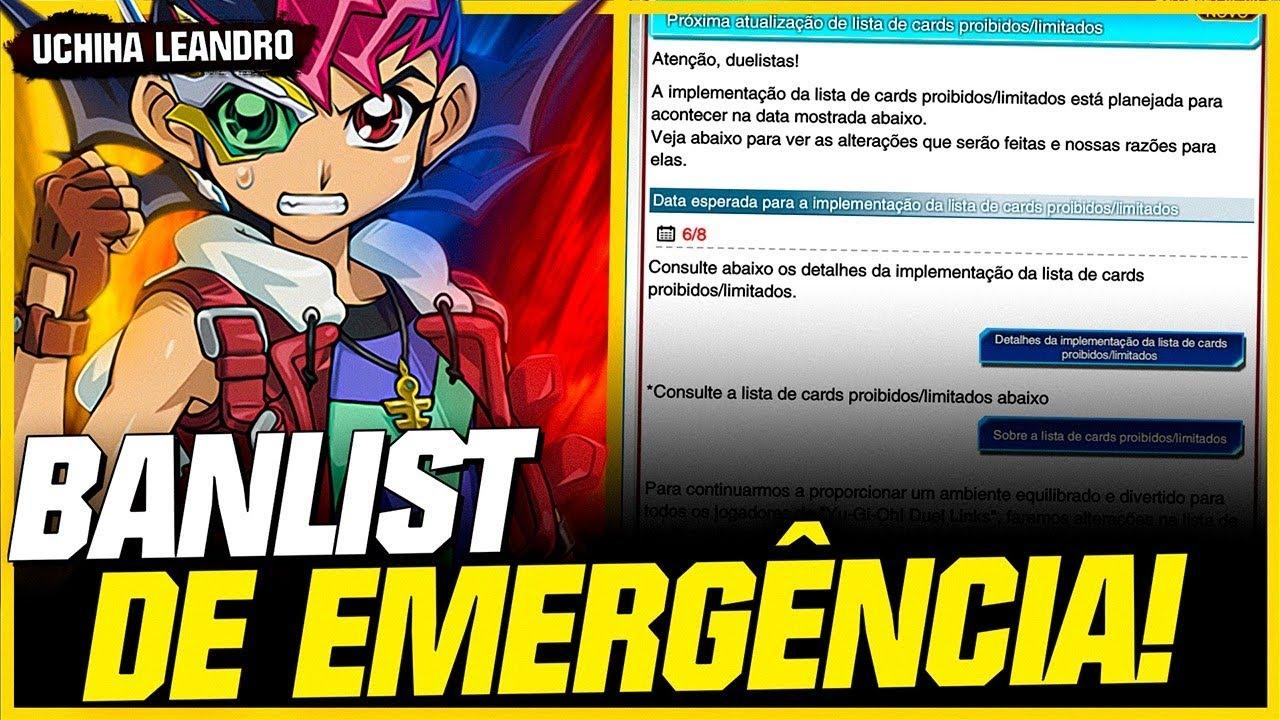 BANLIST DE EMERGÊNCIA! ADEUS TIER 0 // Yu-Gi-Oh! Duel Links
