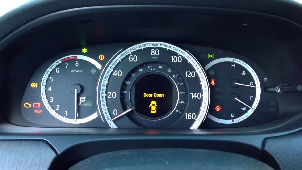 2013 Accord Touring Malfunction Indicator - YouTube