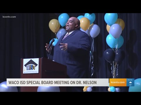 News Around The Lone Star State - KCEN - Waco ISD special meeting regarding superintendent Dr. Marcus Nelson