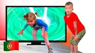 Stefy e dad jogar com magic tv