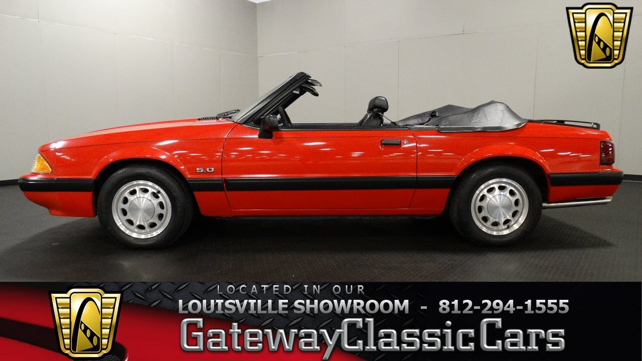 1990 ford mustang 5 0 lx convertible louisville showroom stock 1253