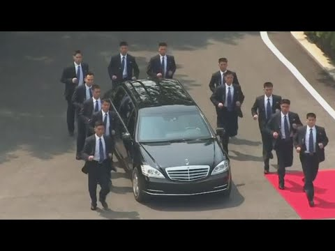 Kim Jong Un's Elite North Korean Bodyguard Squad Turns Heads at Summit