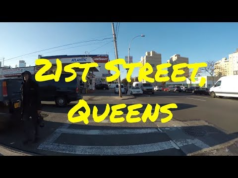 ⁴ᴷ Walking from Astoria, Queens to Downtown Long Island City, NYC via 21st Street & Thomson Avenue