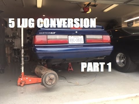 1986 Mustang GT Project - 5 Lug Conversion - Rear Axle Removal