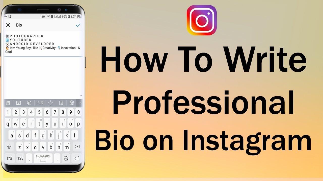 How To Write Professional Bio on Instagram
