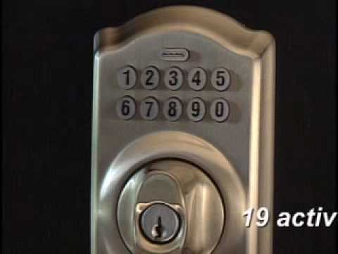 Programming Your Be365 Keypad Deadbolt Youtube