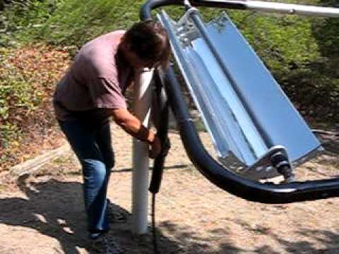 Parabolic Trough Solar Collector Water Heater 3 Youtube