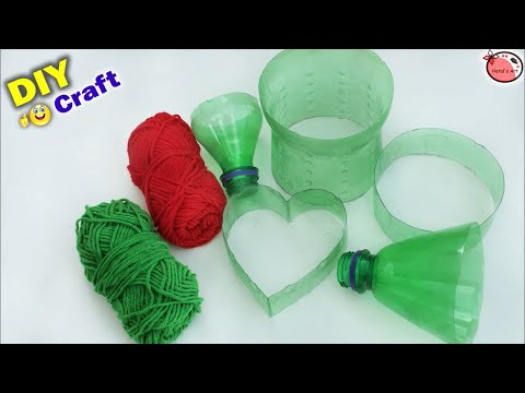 Beautiful ! Best Out of Waste Idea   Heart Showpiece Making at Home with Plastic Bottle   DIY Craft