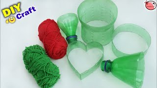 Beautiful ! Best Out of Waste Idea | Heart Showpiece Making at Home with Plastic Bottle | DIY Craft
