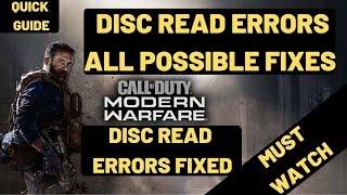 Call Of Duty Modern Warfare Disc read error [5.0]: 'ui.ff' [FIXED]| Fatal Error Disc Read| DEV ERROR
