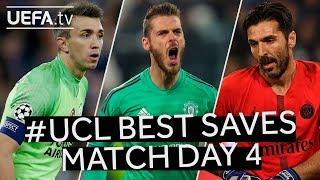 BUFFON, DE GEA, MUSLERA: #UCL BEST SAVES, Match Day 4
