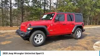 2020 Jeep Wrangler Unlimited J100123